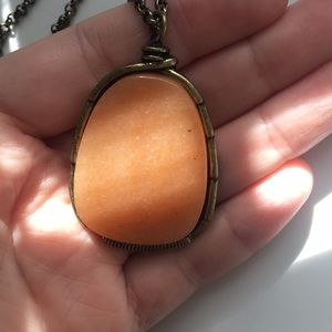 Nordstrom Stone & Metal Necklace